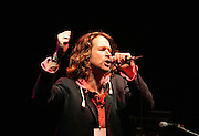 8/8/2004.Liam O Maonlai of the Hothouse Flowers pictured on stage at the Kilkenny Arts festival Woodstock 2004 concert in Inistioge..Picture Dylan Vaughan