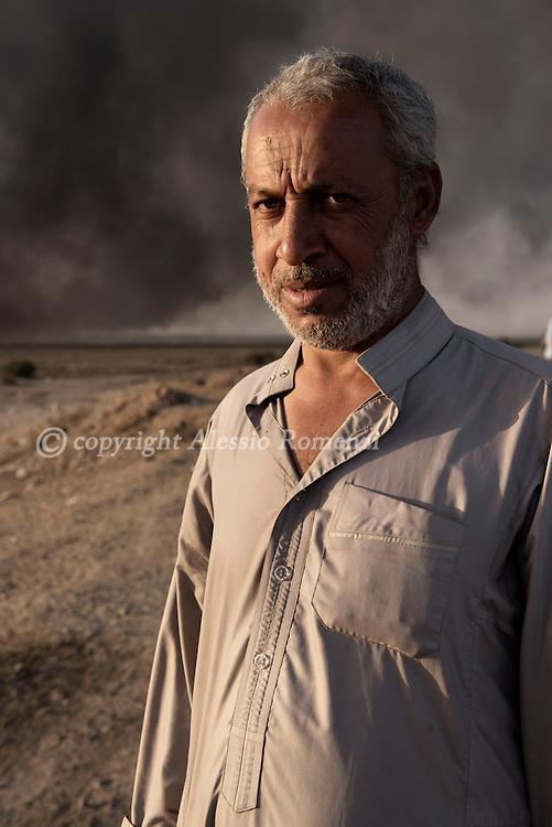 Iraq, Qayyara: Fossi, 43 yo is from Hood, a village south of Mosul. Alessio Romenzi