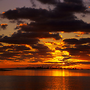 Dramatic sunrise over Bush Key in Dry Tortugas National Park, FL.