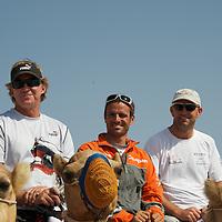 13.01.2012, Abu Dhabi. Volvo Ocean Race, , frank cammas skipper of groupama sailing team, 2ns place in abu dhabi in port race