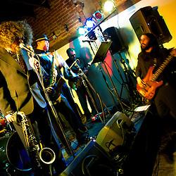 Washington, DC, February 19, 2011 - Frank Mitchell Jr. and his ensemble premiere at Montserrat House.