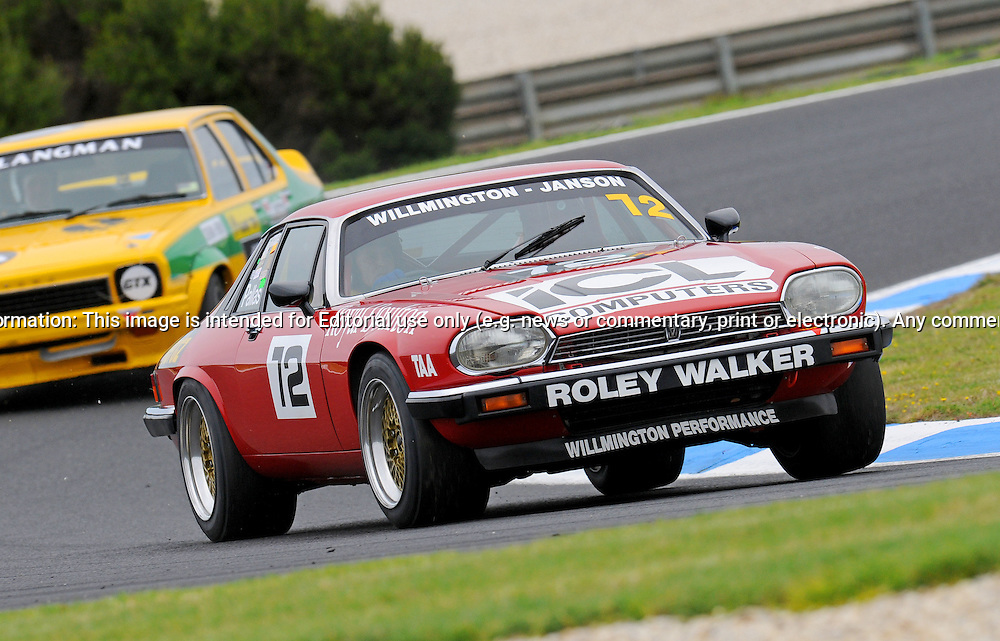Tony Pallas - Jaguar XJS - Group C.Historic Motorsport Racing - Phillip Island Classic.18th March 2011.Phillip Island Racetrack, Phillip Island, Victoria.(C) Joel Strickland Photographics.Use information: This image is intended for Editorial use only (e.g. news or commentary, print or electronic). Any commercial or promotional use requires additional clearance.