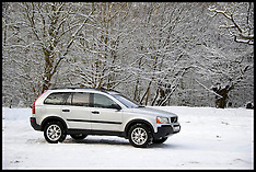 JAN 21 2013 Volvo XC90 in the snow Epping Forest