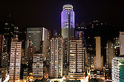 Night cityscape in Wan Chai