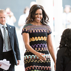 Foto Piero Cruciatti / LaPresse<br /> 18-06-2015 Milano, Italia<br /> Cronaca<br /> Michelle Obama visita Expo Milano 2015<br /> Nella Foto: Michelle Obama <br /> Photo Piero Cruciatti / LaPresse<br /> 18-06-2015 Milan, Italy<br /> News<br /> Michelle Obama visits Expo Milano 2015<br /> In the Photo: Michelle Obama
