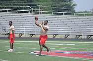 Lafayette High in 7-on-7 football drills at South Panola in Batesville, Miss. on Monday, June 13, 2011.