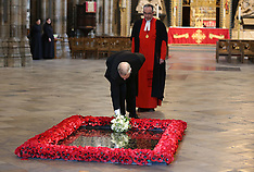 MAY 01 2013 Duke of york lays flowers at the Grave of the Unknown Warrior