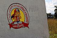 Sign in La Maya, Santiago de Cuba, Cuba.