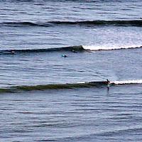 Central America, Costa Rica, Golfo Dulce.  Long breaks at Matapalo on the Golfo Dulce.