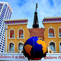 Believe It or Not Museum and Atlantic Palace in Atlantic City, New Jersey<br /> The 1934 Monopoly game was patterned after the streets of Atlantic City. The South Jersey resort area has seen booms and declines since first developed along the ocean shores in 1853. Plans for new, mega hotels and casinos were scrapped during the Great Recession. An eye-catching &ldquo;Odditorium,&rdquo; sandwiched between Resorts and Bally&rsquo;s Casinos on the Boardwalk, is the Ripley&rsquo;s Believe it or Not Museum. Inside this wrecking ball building are over 400 exhibits of the weird and curious.