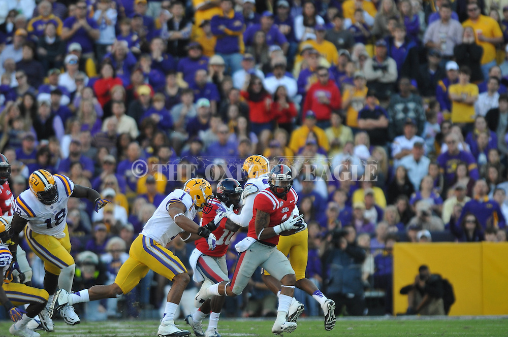 Ole Miss' Randall Mackey (1) vs. LSU at Tiger Stadium in Baton Rouge, La. on Saturday, November 17, 2012.....