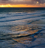Rough waves and sea at dusk, Great Ocean Road, Victoria, Australia