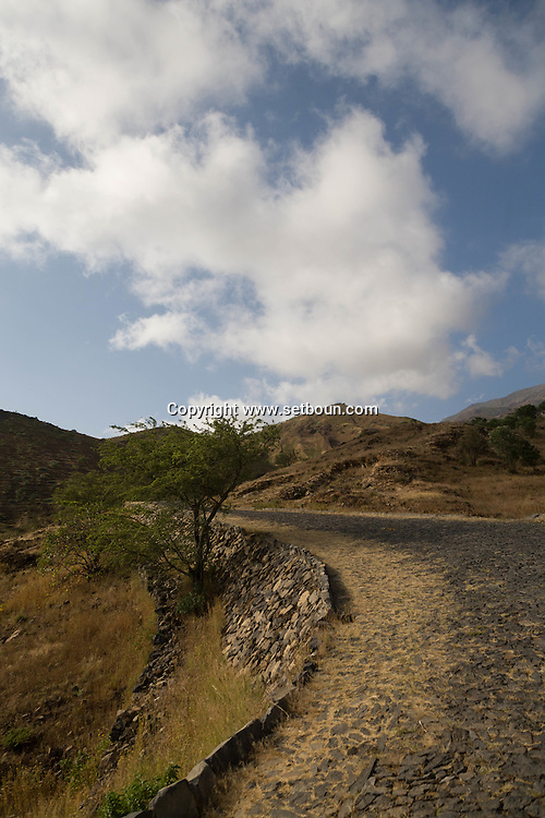 Cape Verde. The road to the volcano  Fogo Island     / Cap-Vert:  la route qui mene au cratere du volcan  ile de Fogo    /11
