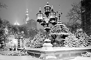 New York City: City Hall Park in a snowstorm