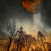 Surreal photo manipulation composed with my own photos.<br /> Society6 Prints: https://society6.com/product/when-the-moon-was-young_print#1=45<br /> REDBUBBLE Prints: http://www.redbubble.com/people/dyrkwyst/works/21480652-when-the-moon-was-young?ref=recent-owner