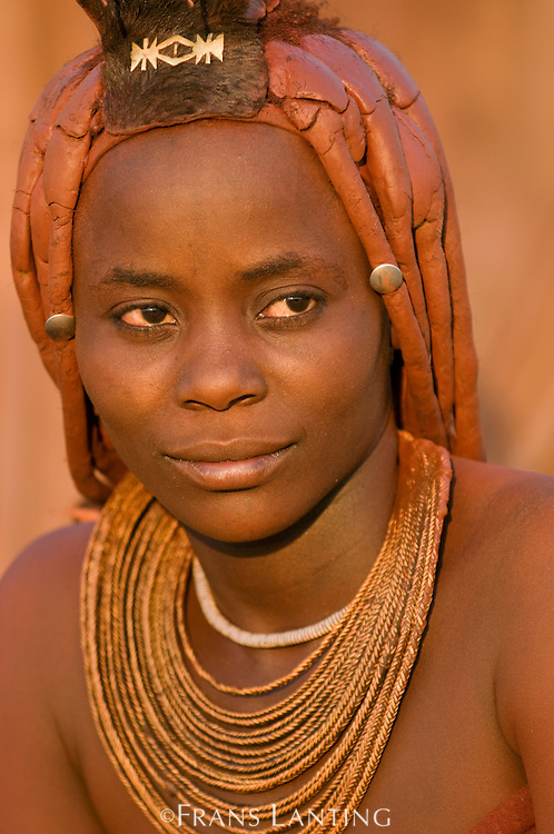 Himba woman, Puros Conservancy, Damaraland, Namibia