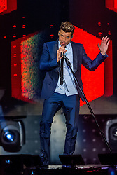 INGLEWOOD, CA - SEPT 19: Recording artist, performer and singer Ricky Martin continued his One World Tour in support of the album 'A Quien Quiera Escuchar' with an impressive show at the Fabulous Forum in Inglewood, California, USA on 19 September, 2015. Byline, credit, TV usage, web usage or linkback must read SILVEXPHOTO.COM. Failure to byline correctly will incur double the agreed fee. Tel: +1 714 504 6870.