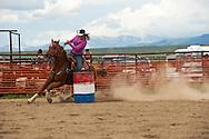 Barrel Racing, rodeo, Wilsall, Montana, Ashlee Boucher, <br /> MODEL RELEASED, PROPERTY RELEASED