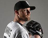 GLENDALE, ARIZONA - FEBRUARY 27:  John Danks #50 of the Chicago White Sox poses for a portrait during photo day on February 27, 2015 at Camelback Ranch in Glendale Arizona.  (Photo by Ron Vesely)    Subject:  John Danks