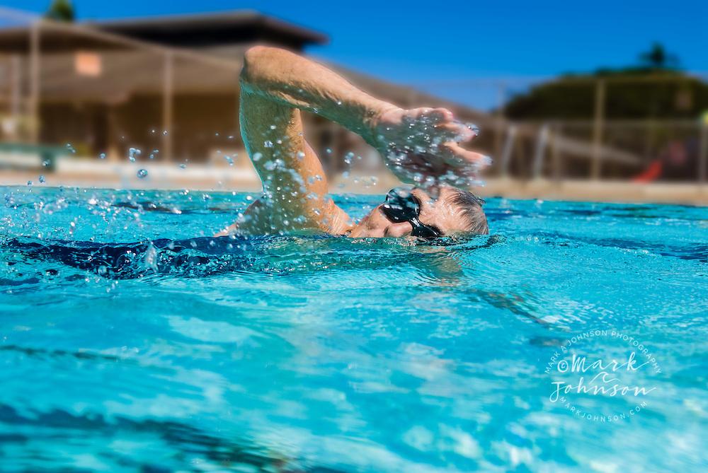 Woman Freestyle Swimming