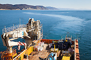 The ROV construction support vessel MV Toisa Wave working on the South Stream Gas Pipeline project in the Black Sea.