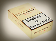 Spoof Health Warning on a Packet of Benson and Hedges Cigarettes