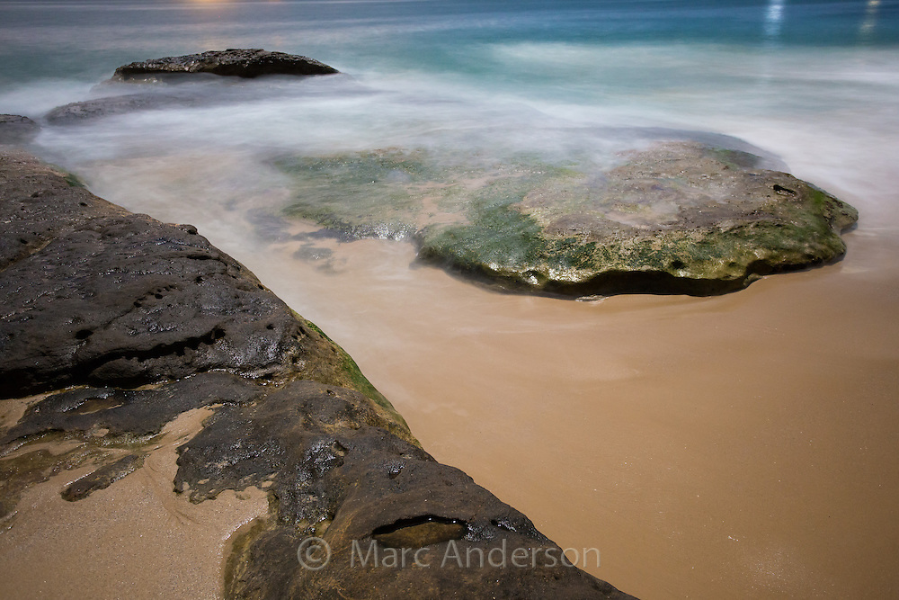 Jibbon Beach in moonlight, Bundeena, NSW Australia
