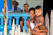 Family in Yumuri, Guantanamo, Cuba.