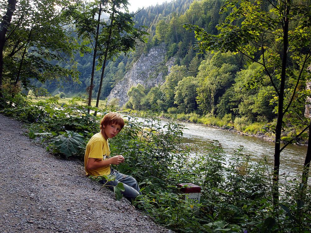 The Dunajec gorge in Eastern Slovakia.