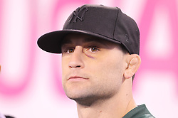 October 17, 2011; East Rutherford, NJ, USA; UFC Lightweight Champion Frankie Edgar before the first half of the game between the New York Jets and the Miami Dolphins at the New Meadowlands Stadium.