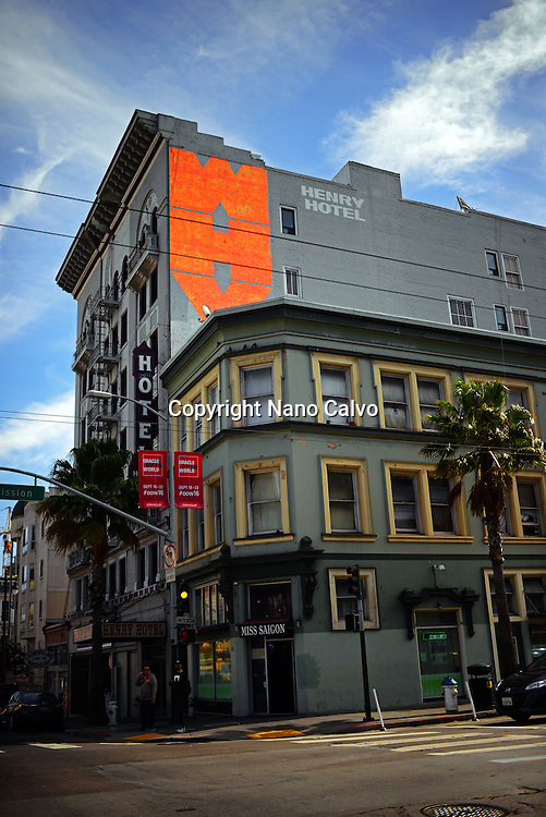 Henry Hotel building in San Francisco, California.
