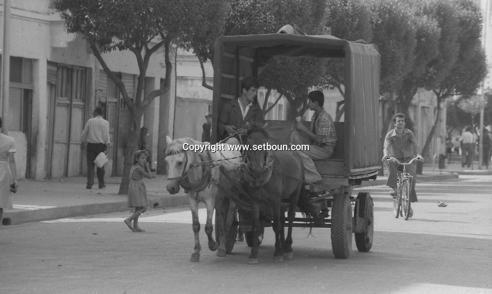 Abania in 1981 under the communist regime. old car  street life in Tirana  , albania +