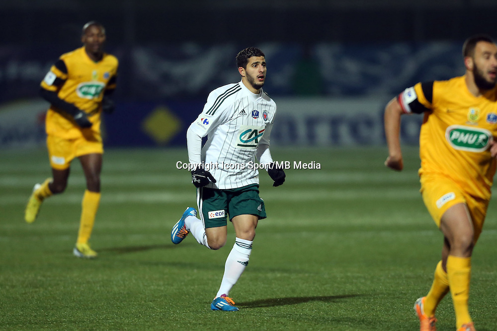Farid BEZIOUEN  - 23.01.2015 - Red Star / Marseille Consolat - Coupe de France<br /> Photo : Sebastien Muylaert / Icon Sport