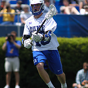 Duke Attacker Kyle Keenan (16) attempts to pass the ball  during the second half of The NCAA Division I Men's Lacrosse Tournament game between the Defending national champion Duke and No. 8 ranked Johns Hopkins Sunday, May. 18, 2014 at Delaware Stadium in Newark, DEL