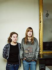 Alice de Lencquesaing with Amélie van Elmbt (Paris, Apr. 2013)
