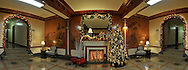 Christmas Tree, Presents, Christmas Decorations and An FirePlace in a Foe of 601, 79 Street, Brooklyn, NYC.