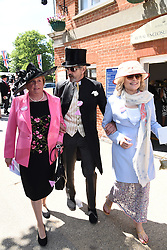 Anne Hutton, Jeremy Irons and Sinead Cusack attend Royal Ascot Ladies Day at Ascot Racecourse, Ascot, Berkshire on Thursday 18 June 2015