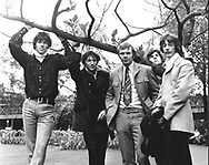 Bee Gees 1967 Barry Gibb, Maurice Gibb, Colin Peterson, Vince Melouney and Robin Gibb..© Chris Walter..