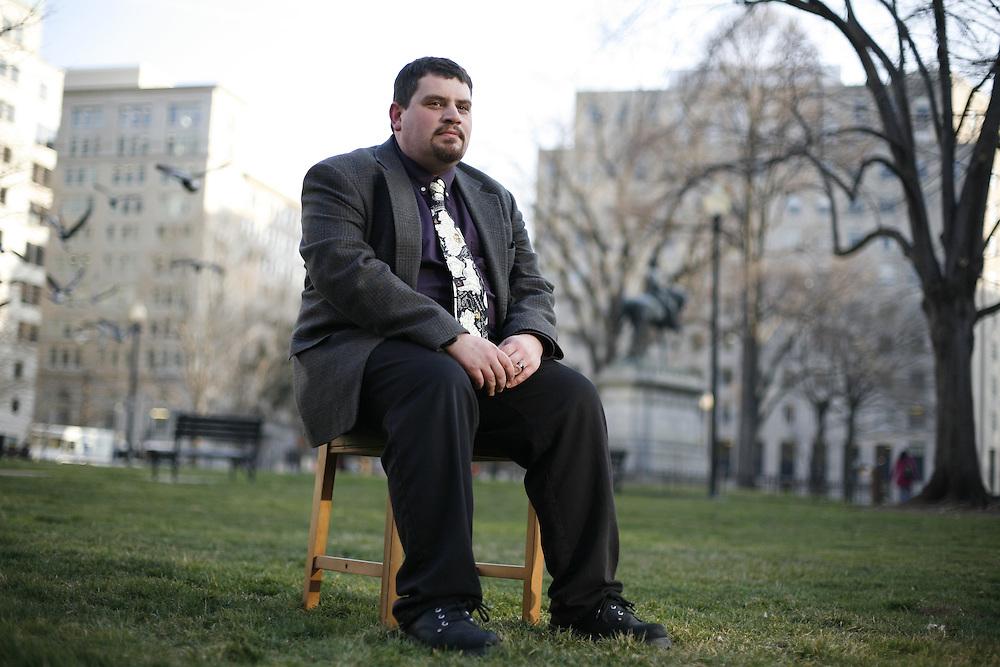 Washington, Feb. 25, 2008 - Ryan Hess, College Park, Md., Journalist for trade publication