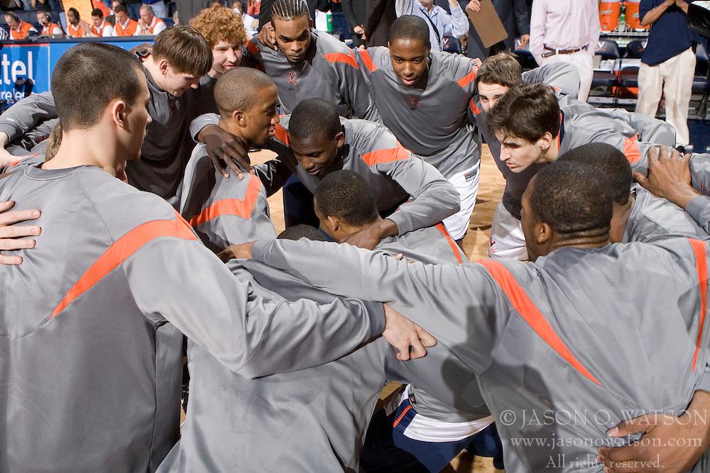 The Virginia Cavaliers Men's Basketball Team defeated the Georgia Tech Yellow Jackets 75-69 at the John Paul Jones Arena in Charlottesville, VA on February 24, 2007.