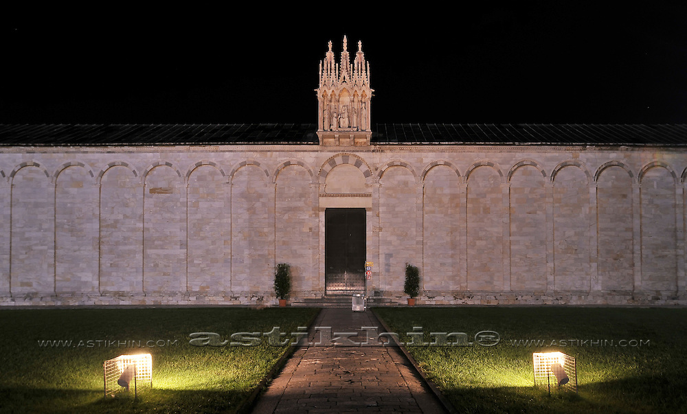 The Campo Santo at night