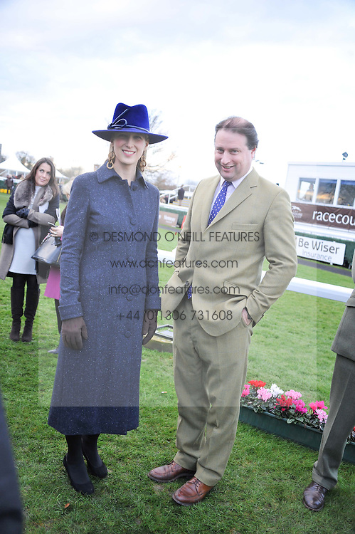 JO THORNTON MD Moet Hennessy UK and LADY GABRIELLA WINDSOR at the 2012 Hennessy Gold Cup at Newbury Racecourse, Berkshire on 1st December 2012