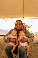 Henry Real Bird, Crow Elder, twin grandchildren, Crow Fair