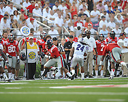 Ole Miss wide receiver Donte Moncrief (12) makes a catch at Vaught-Hemingway Stadium in Oxford, Miss. on Saturday, September 1, 2012. (AP Photo/Oxford Eagle, Bruce Newman)..
