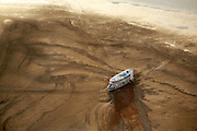 27/10/05 Barreirinha (Brazil). Big river boat trapped on a sand bank East of Barreirinha, during one of the worst droughts ever recorded in the Amazon..©Daniel Beltra/Greenpeace