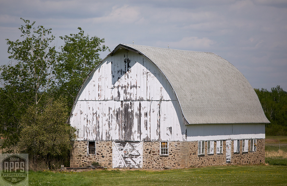 Chippewa County- County Rd X east of 220th street near hwy 29, east of Chippewa Falls. Barns from around the State of Wisconsin.