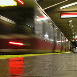 MBTA Red Line<br /> Central Square Station platfoem<br /> Cambridge, MA