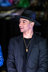 """ANAHEIM, CA - FEB 22: Singer Luis Coronel came to support his brother Bebe Coronel at the press preview for the upcoming show """"Vaselina El Musical USA"""" at the M3 Live February 22, 2016 in Anaheim, California. Luis Coronel will perform during the show debut March 19, 2016 at the M3 Live. Byline, credit, TV usage, web usage or linkback must read SILVEXPHOTO.COM. Failure to byline correctly will incur double the agreed fee. Tel: +1 714 504 6870."""