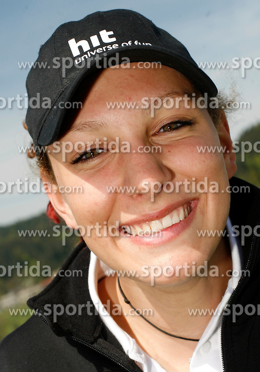 Ilka Stuhec at press conference of Slovenian Ski Federation, on April 16, 2007, in Sunny Studio, Ljubljana, Slovenia.  (Photo by Vid Ponikvar / Sportida)