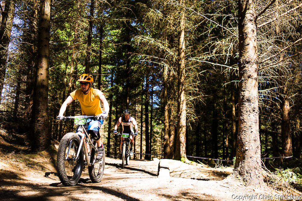 Glentress, Peebles, Scottish Borders, UK. 23rd May 2015. Mountain bikers take part in the Glentress 7 race during Tweedlove Festival. The aim is to complete as many laps of an 11km course during the 7 hour time limit.